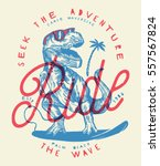 Ride The Wave   Dinosaur Surfe...