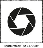 shutter    black vector icon | Shutterstock .eps vector #557570389