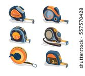 measuring tape  a set of... | Shutterstock .eps vector #557570428