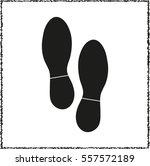 shoes prints    black vector...   Shutterstock .eps vector #557572189