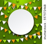 illustration clean card with... | Shutterstock .eps vector #557572468