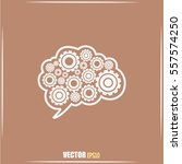 cogs in the shape of a human... | Shutterstock .eps vector #557574250