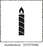 candle    black vector icon | Shutterstock .eps vector #557574580