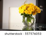 Yellow Roses In Vase On The...