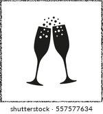 champagne glasses    black...   Shutterstock .eps vector #557577634