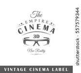 cinema label isolated on white... | Shutterstock .eps vector #557579344
