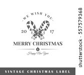 christmas label isolated on... | Shutterstock .eps vector #557579368