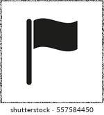 flag   black vector  icon | Shutterstock .eps vector #557584450