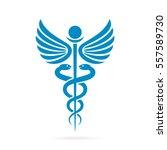 caduceus medical vector sign... | Shutterstock .eps vector #557589730