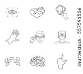 virtual reality set icons in... | Shutterstock .eps vector #557591536