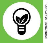 leaves plant in bolb idea lamp... | Shutterstock .eps vector #557593354