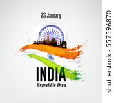 india republic day celebration... | Shutterstock .eps vector #557596870