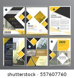 business template for brochure  ... | Shutterstock .eps vector #557607760