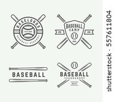 set of vintage tennis logos ... | Shutterstock .eps vector #557611804