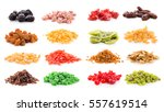 sets of a lot of dried fruits | Shutterstock . vector #557619514