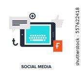 vector illustration of social... | Shutterstock .eps vector #557622418
