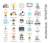 vector set of education and... | Shutterstock .eps vector #557629720