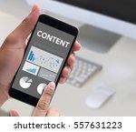 content concept  data blogging... | Shutterstock . vector #557631223