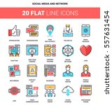 vector set of social media and... | Shutterstock .eps vector #557631454