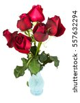 Red Roses Bouquet In A Vase...