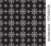 vector seamless snowflakes or... | Shutterstock .eps vector #557636104