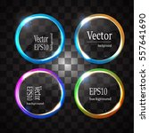 round shiny frame background... | Shutterstock .eps vector #557641690