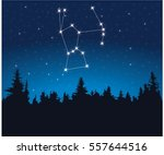 constellation orion | Shutterstock .eps vector #557644516