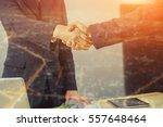 double exposure of great job... | Shutterstock . vector #557648464
