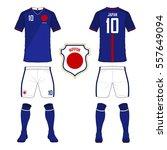 set of soccer jersey or...   Shutterstock .eps vector #557649094