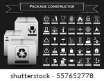 package constructor. packaging... | Shutterstock .eps vector #557652778