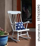 white rocking chair on 4th of... | Shutterstock . vector #557653090