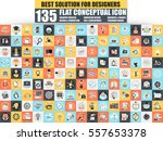 set of flat icons concept for... | Shutterstock .eps vector #557653378