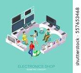 supermarket appliances and... | Shutterstock .eps vector #557653468