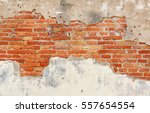 Background Of Crack Brick Wall...