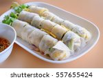 Vietnamese Food  Rice Roll Wit...