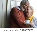 senior couple daily lifestyle... | Shutterstock . vector #557657473