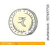 indian rupee. doodle style... | Shutterstock .eps vector #557657710