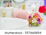 fragment of a luxury bathroom   Shutterstock . vector #557660854