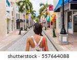 woman tourist walking in... | Shutterstock . vector #557664088