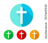 set of colored christian cross... | Shutterstock .eps vector #557669533