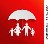 family under umbrella   family... | Shutterstock .eps vector #557671054