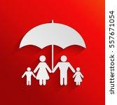 family under umbrella   family... | Shutterstock .eps vector #557671054
