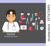 medical dental background.... | Shutterstock .eps vector #557672893