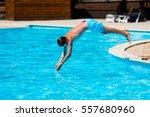 Active Teenager Boy Jumping...