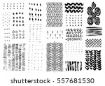 vector hand drawn textures.... | Shutterstock .eps vector #557681530