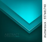 green turquoise triangle vector ... | Shutterstock .eps vector #557681740