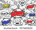 hand drawn of speech comic... | Shutterstock .eps vector #557682820