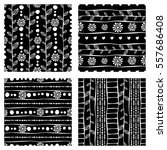 set of seamless vector pattern. ... | Shutterstock .eps vector #557686408