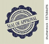 blue seal of approval... | Shutterstock .eps vector #557686696