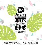 the journey of a thousand miles ... | Shutterstock .eps vector #557688868